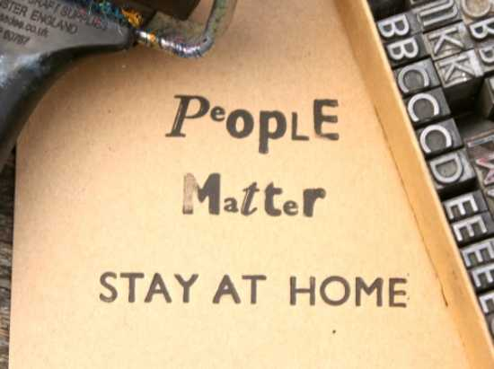 People Matter - Stay at home print