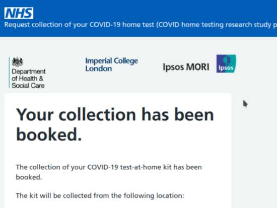COVID-19 Research Study Confirmation