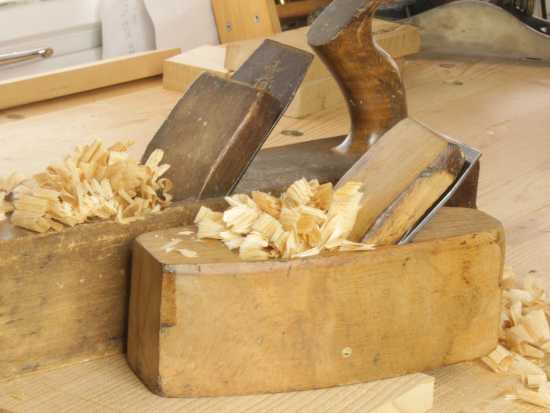 Wooden planes in use